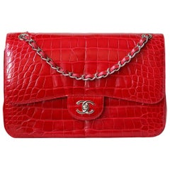 Chanel Alligator Jumbo Classic Double Flap Bag