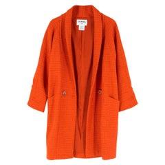 Chanel Alpaca & Wool Blend Cocoon Coat FR 36