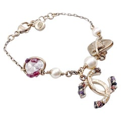 CHANEL Amethyst, Pearl And Rock Crystal Bracelet