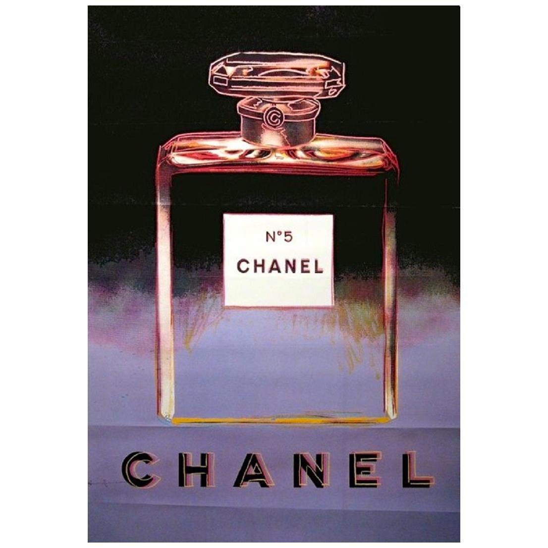 Chanel Andy Warhol Purple Poster