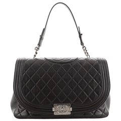 Chanel Antik Boy Flap Bag Quilted Lambskin Large