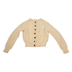 Chanel Aran Cable Knit Cardigan