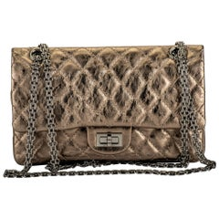 Chanel Argent Fonce' Reissue Double Flap Bag
