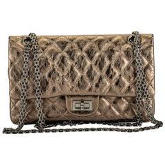 Chanel Argent Fonce' Reissue Double Flap Bag