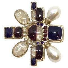 Chanel Asymmetric Medallion Pin, 2016 Collection