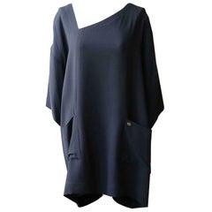 Chanel Asymmetric Silk Crepe Mini Dress
