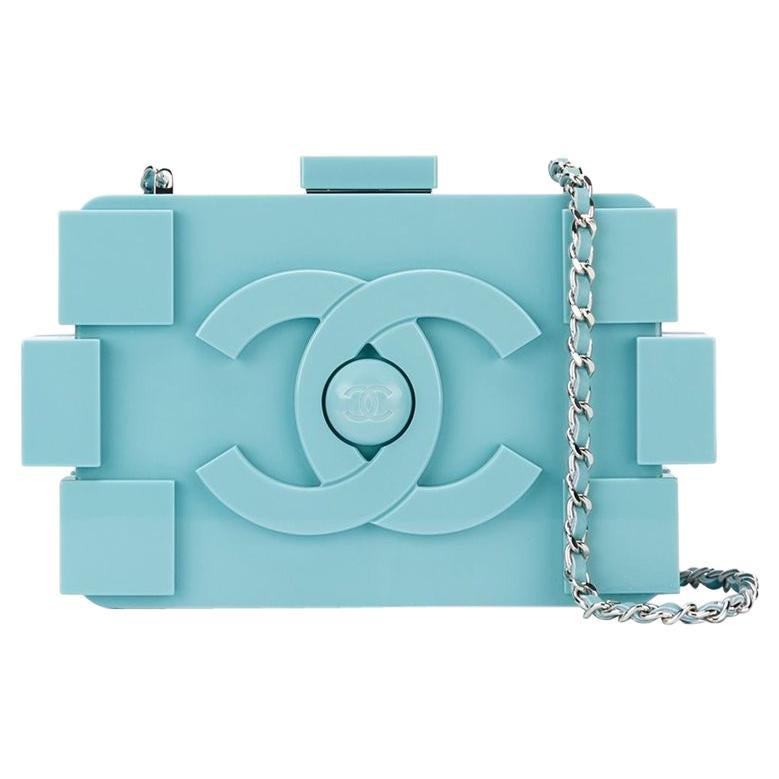 Chanel Baby Blue Lego Clutch