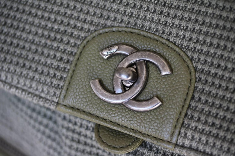784e85eec021 Chanel Backpack Pocket Bag in Woven Tweed and Canvas In New Condition For  Sale In London