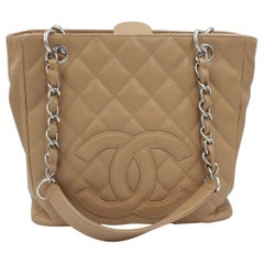 Chanel bag in beige leather