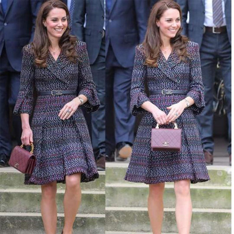 Chanel Rare Enamel Top Handle Classic Flap Bag Crossbody  Same collection (larger size, different color) as seen on Kate Middleton.  Very rare limited edition piece.    Year 2015  Made in Italy