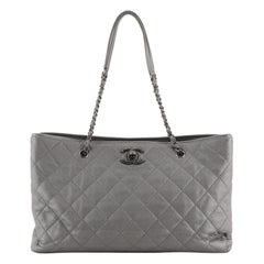 Chanel Be Caviar Tote Quilted Caviar Large