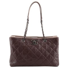 Chanel Be Caviar Tote Quilted Caviar Medium