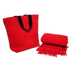CHANEL Beach Bag and Towel