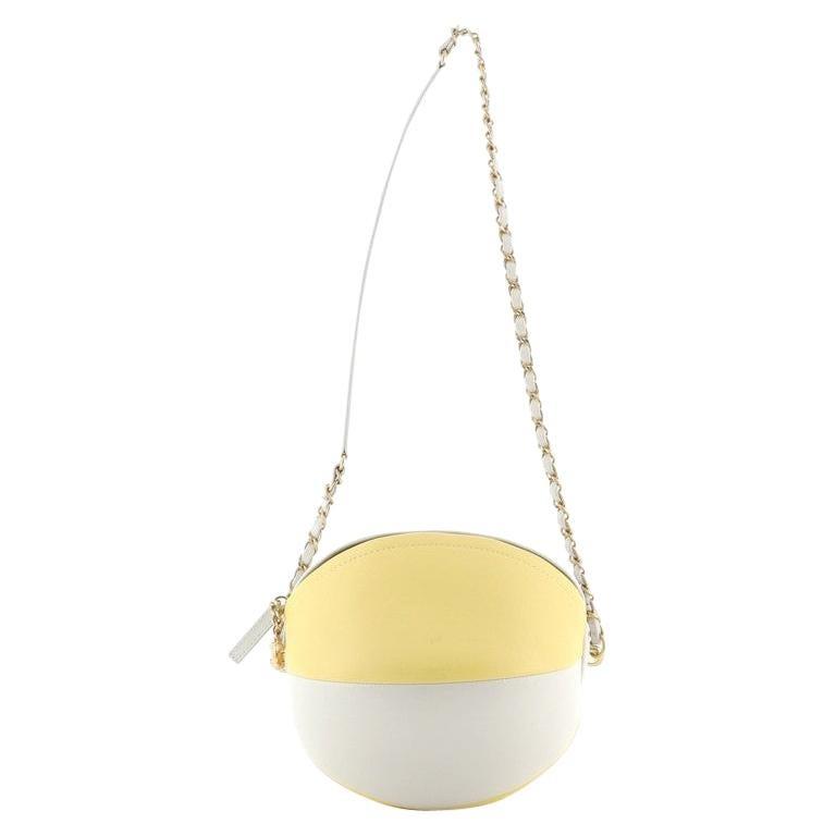 Chanel Beach Ball Shoulder Bag Calfskin Leather Small