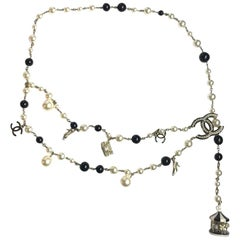 CHANEL Beads And Charms Belt/Necklace