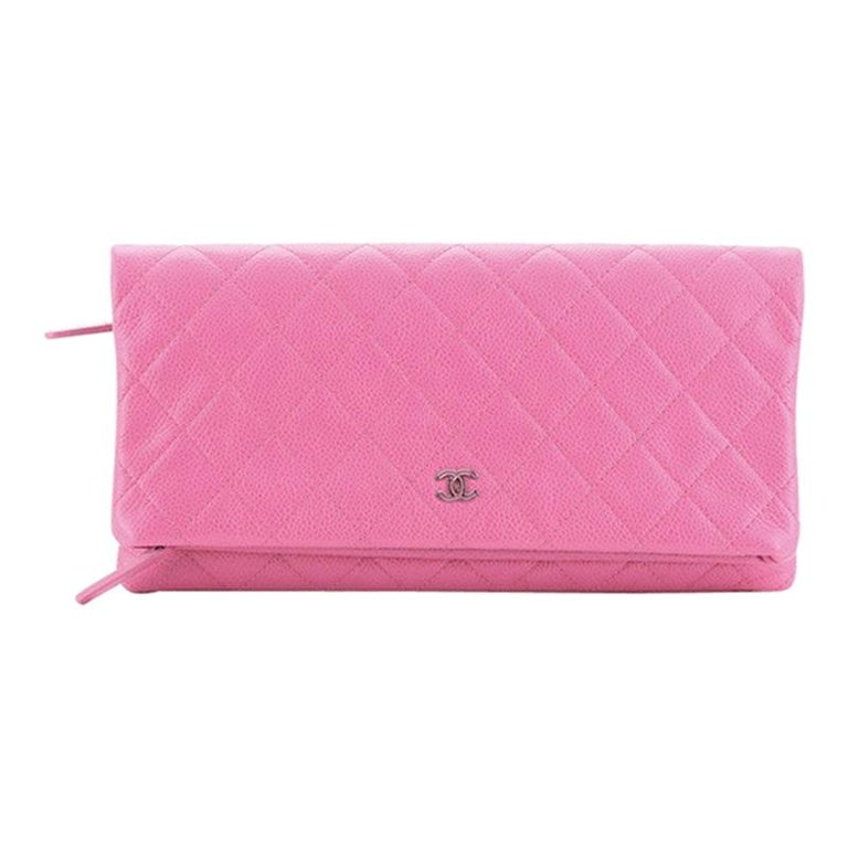 Chanel Beauty CC Clutch Quilted Caviar For Sale
