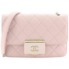 Chanel Beauty Lock Flap Bag Quilted Sheepskin Mini