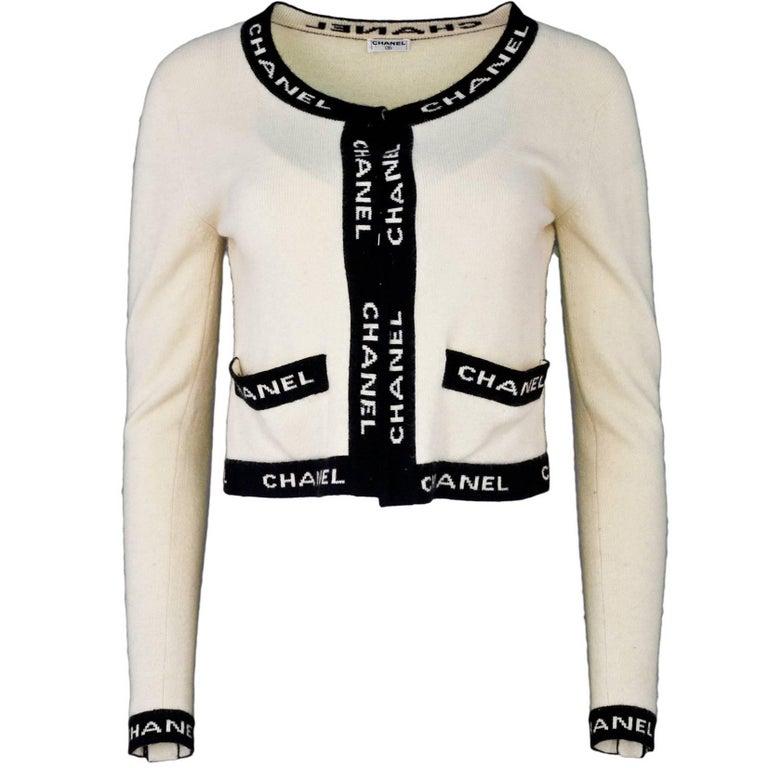 Chanel Beige & Black CHANEL Sweater