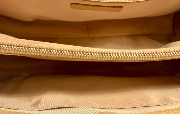Chanel Beige (20) Matelasse Quilted Caviar Leather Gold Chain Grand Shopping Bag For Sale 6