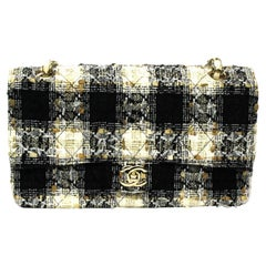 Chanel Beige and Black Tweed 2.55 Bag