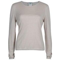 Chanel Beige Cashmere Sweater M