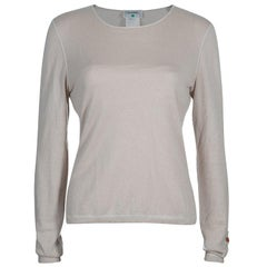Chanel Beige Cashmere Sweater M