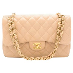 Chanel Beige Clair Large Classic Flap Bag 30cm