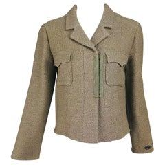 Chanel Beige Double Pocket Hook Front Unlined Jacket 02A