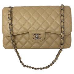 Chanel Beige Jumbo Double Flap Bag