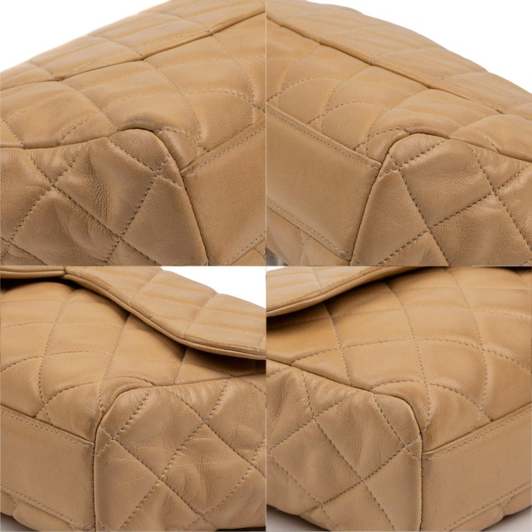 Chanel Beige Lamb Skin Leather Clutch For Sale 5