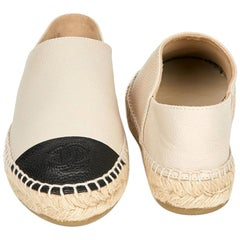 Chanel Beige Leather Espadrilles T36