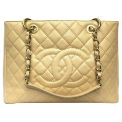 Chanel Beige Leather GST Bag
