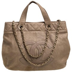 Chanel Beige Leather Trianon Tote