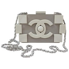 Chanel Beige Légo clutch bag
