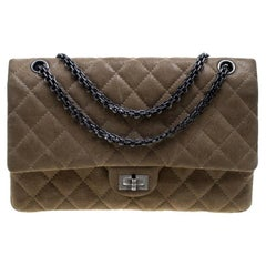 aec97b99be89 Chanel Beige Quilted Glazed Suede Reissue 2.55 Classic 226 Flap Bag
