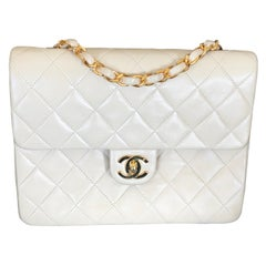 Chanel Beige Quilted Lambskin Mini Flap Bag with Gold Hardware