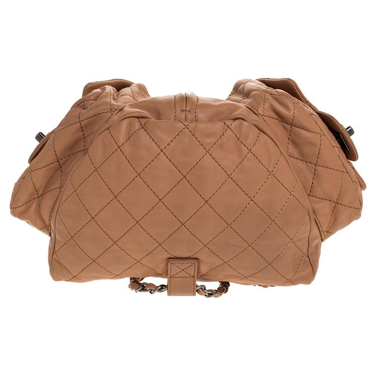 Chanel Beige Quilted Leather Small Backpack Is Back Backpack For Sale 1
