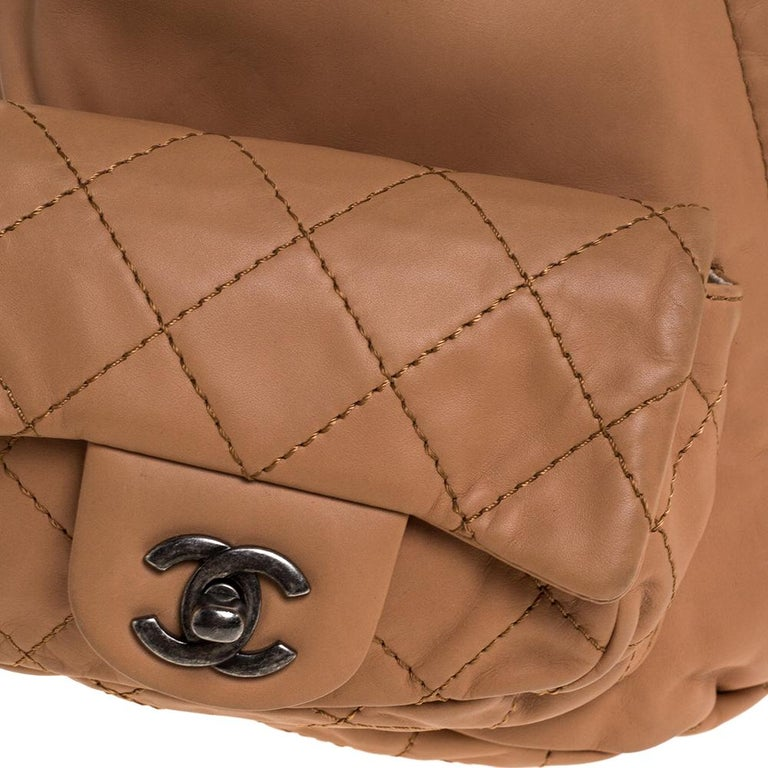 Chanel Beige Quilted Leather Small Backpack Is Back Backpack For Sale 2
