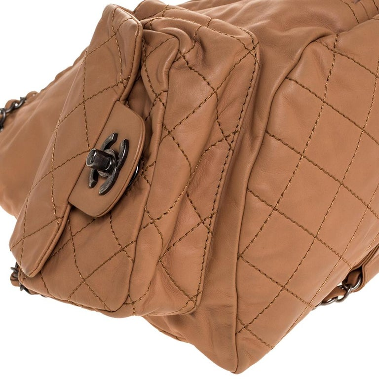 Chanel Beige Quilted Leather Small Backpack Is Back Backpack For Sale 3