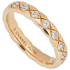 Chanel Beige / Rose Gold Coco Crush Ring J11786