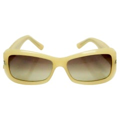 Chanel Beige Sunglasses w/ Studs