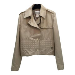CHANEL Beige Waterproof Jacket Size 40
