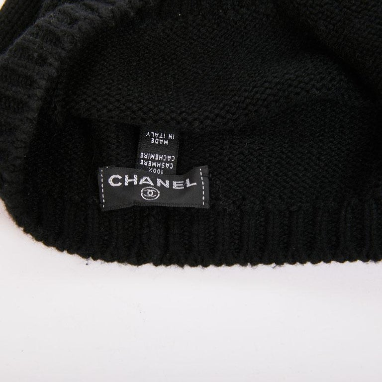 CHANEL Beret in Black Cashmere at 1stdibs e23aab864cf