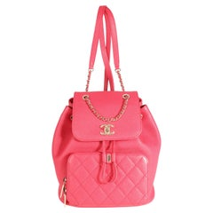 Chanel Berry Caviar Quilted Business Affinity Backpack