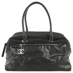 Chanel Biarritz Duffle Bag Quilted Coated Canvas Large