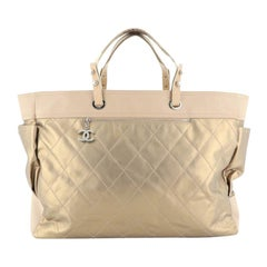 Chanel Biarritz Pocket Tote Quilted Coated Canvas XL