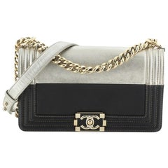Chanel Bicolor Boy Flap Bag Calfskin Old Medium