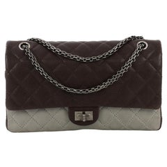 Chanel Bicolor Reissue 2.55 Flap Bag Quilted Caviar and Washed Lambskin 227