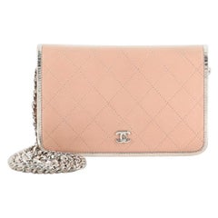 Chanel Bicolor Wallet on Chain Stitched Calfskin
