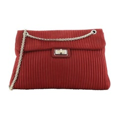 Chanel Bijoux Chain Mademoiselle Flap Bag Vertical Quilted Iridescent Calfskin